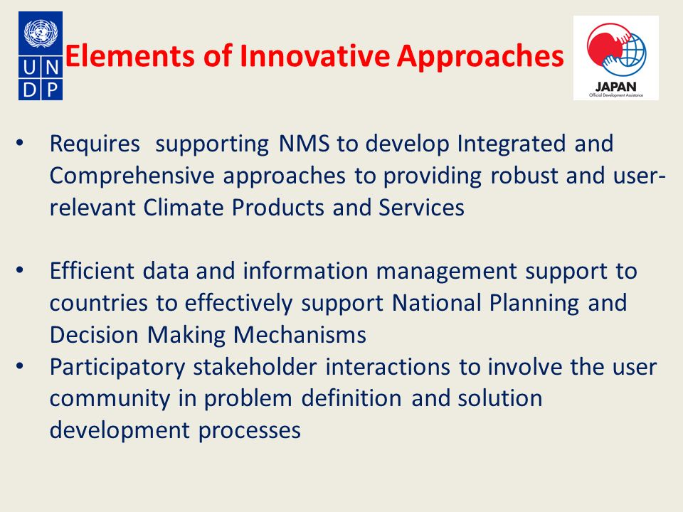 Elements of Innovative Approaches
