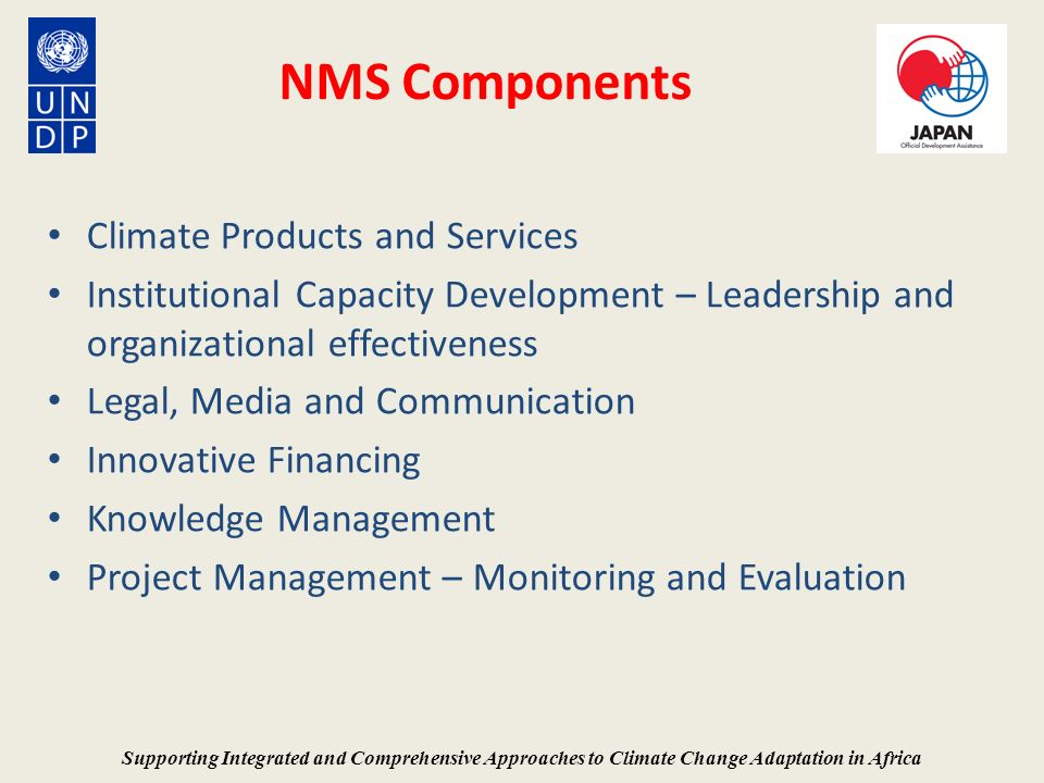 NMS Components Climate Products and Services