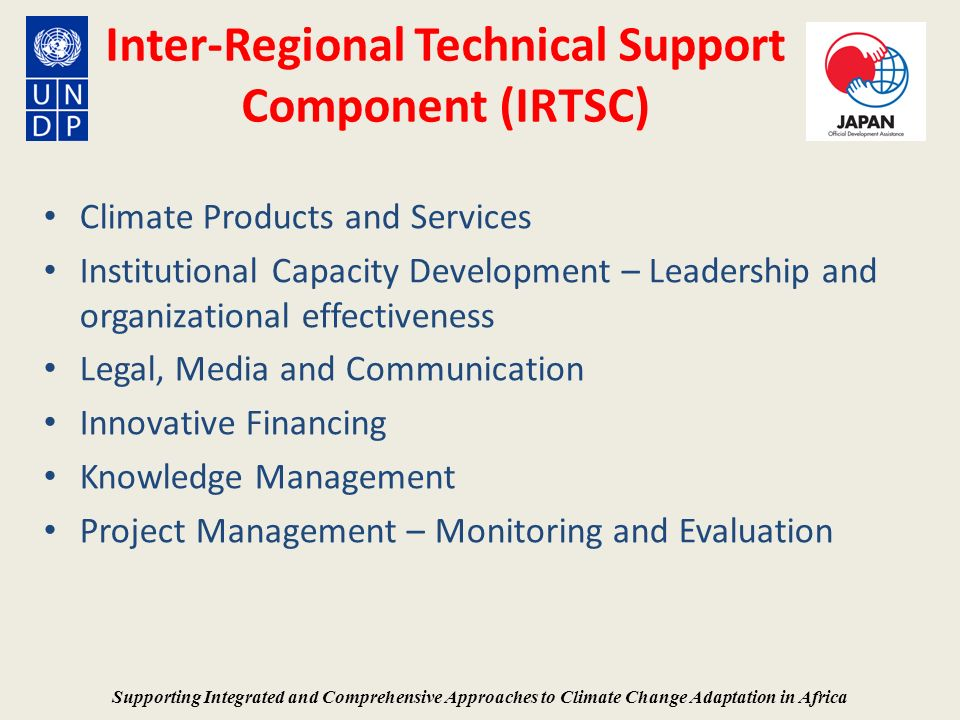 Inter-Regional Technical Support Component (IRTSC)