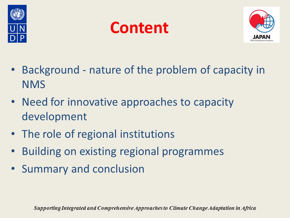 Content Background - nature of the problem of capacity in NMS