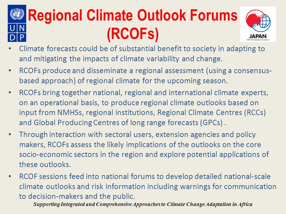 Regional Climate Outlook Forums (RCOFs)