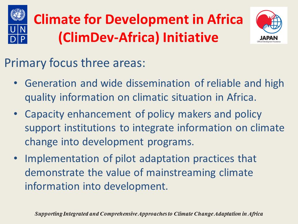 Climate for Development in Africa (ClimDev-Africa) Initiative