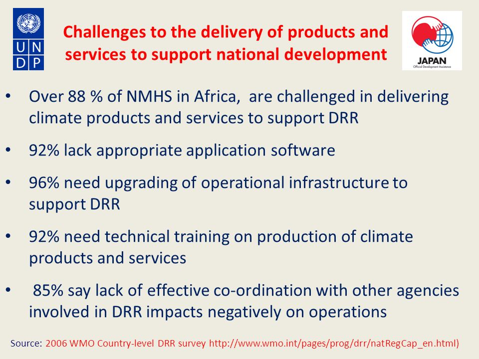 Challenges to the delivery of products and services to support national development