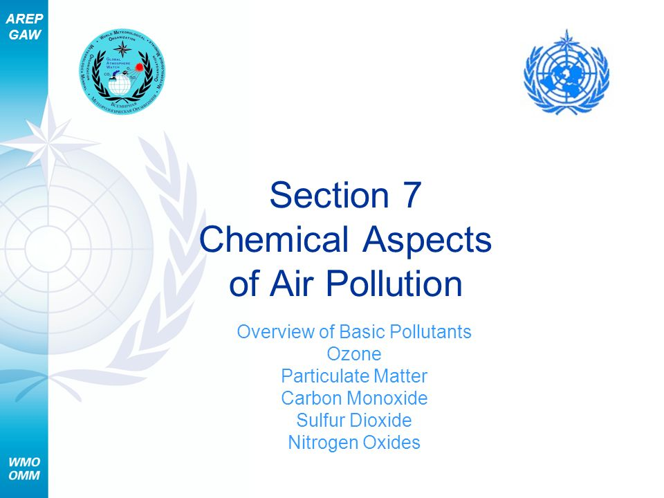 Section 7 Chemical Aspects of Air Pollution