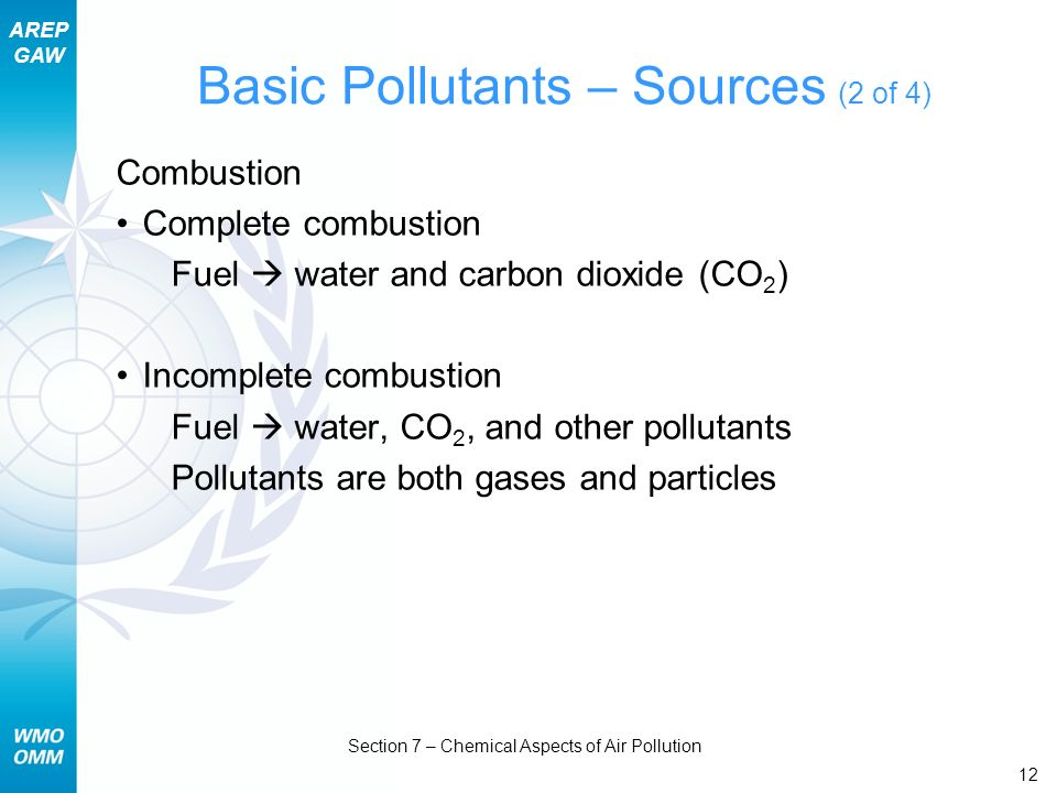 Basic Pollutants – Sources (2 of 4)
