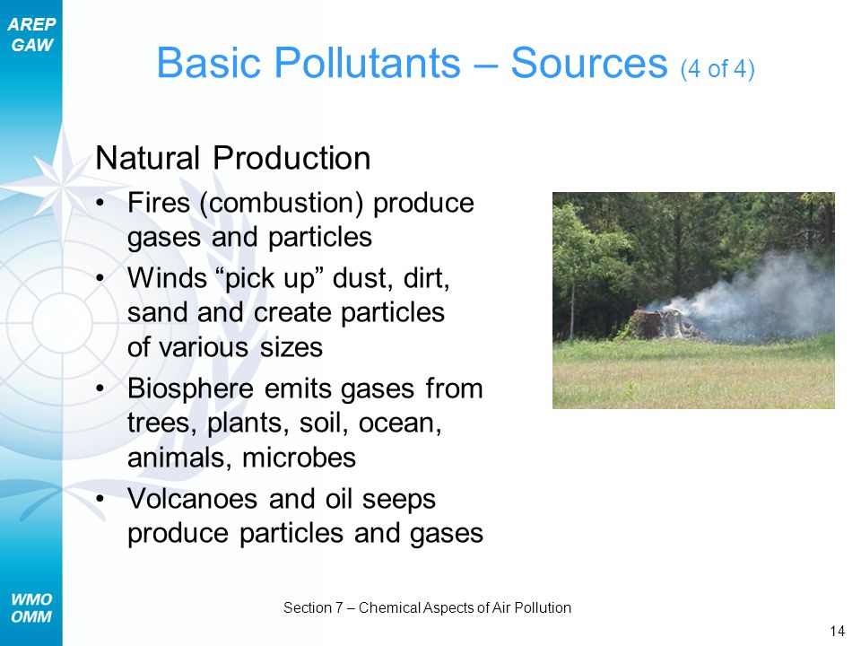 Basic Pollutants – Sources (4 of 4)