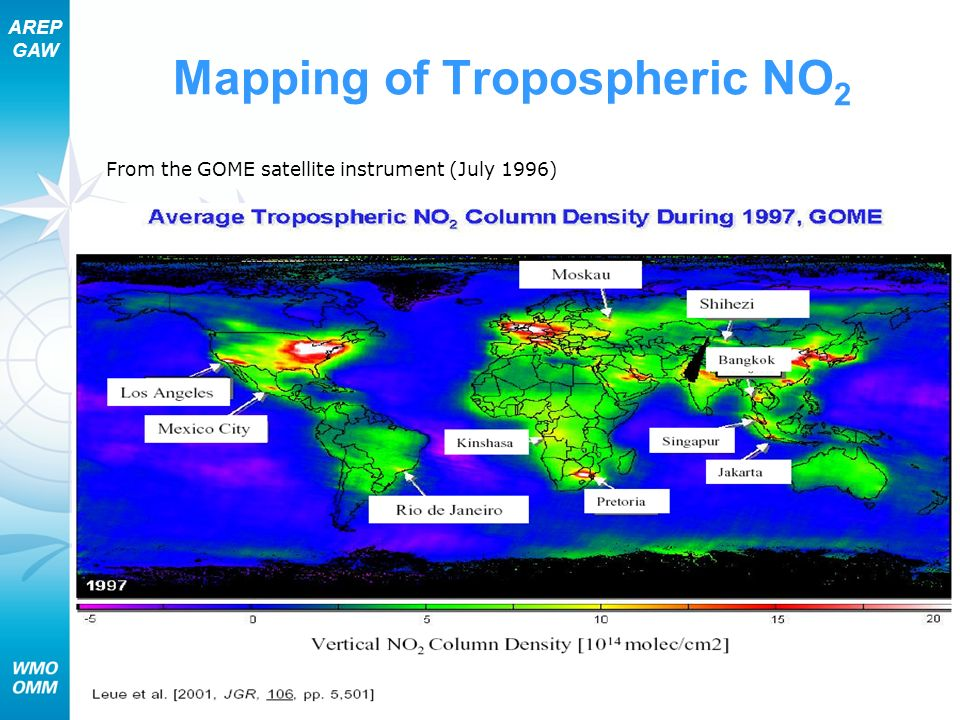 Mapping of Tropospheric NO2