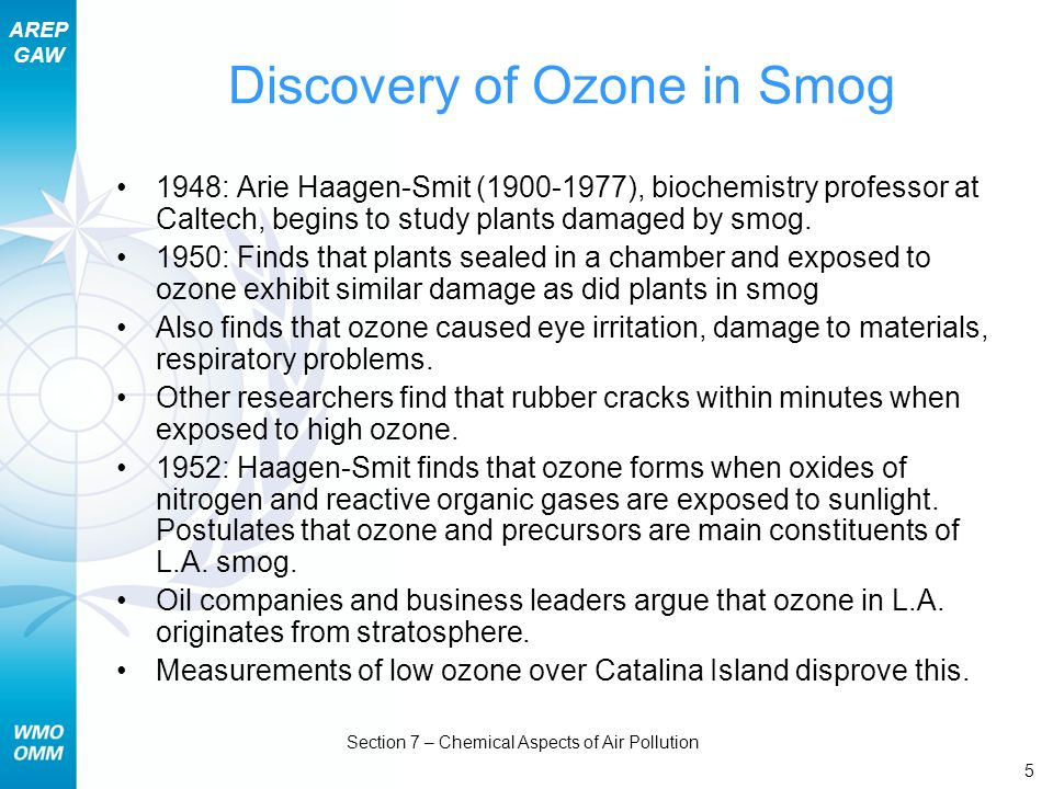 Discovery of Ozone in Smog