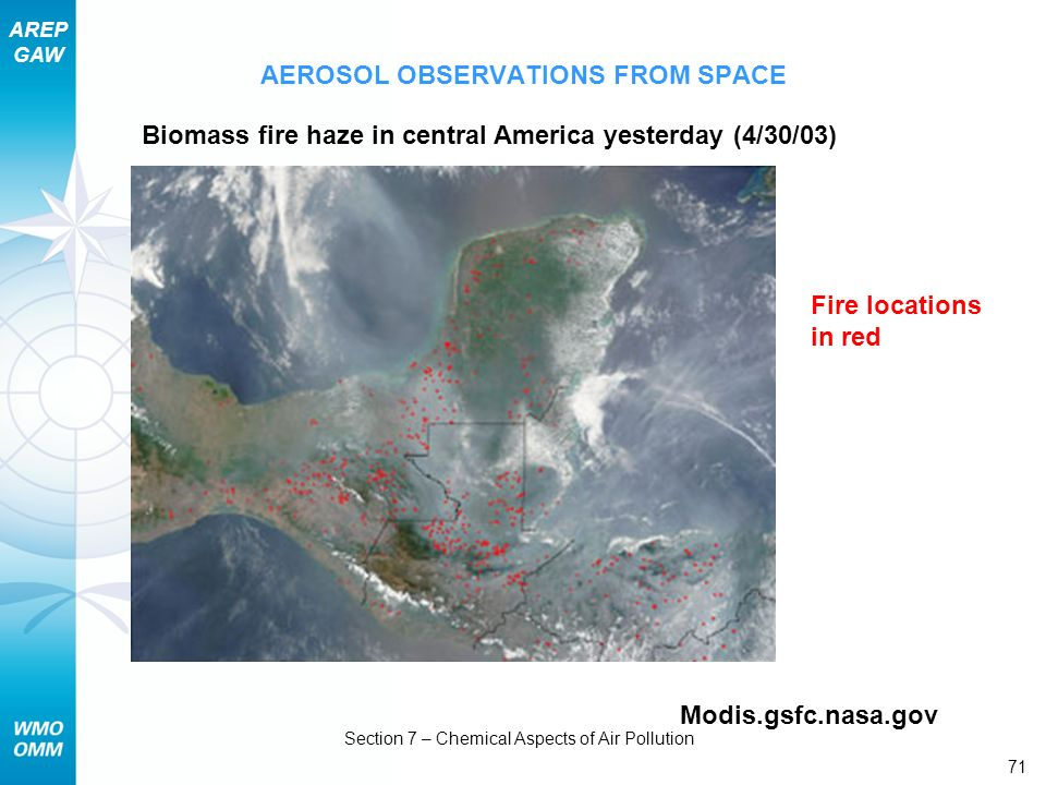 AEROSOL OBSERVATIONS FROM SPACE