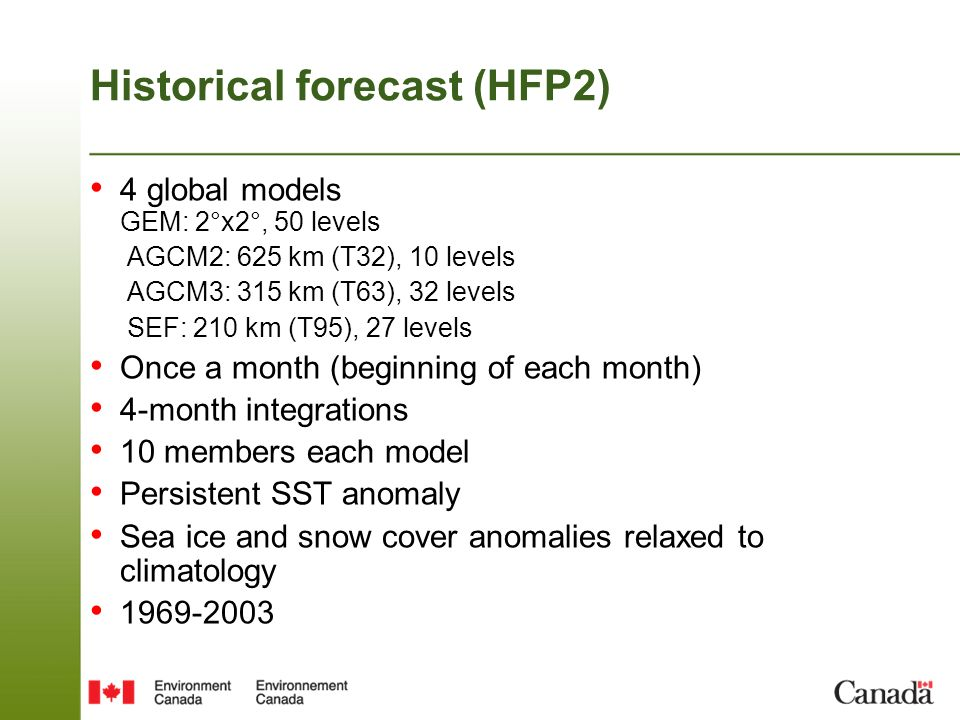 Historical forecast (HFP2)