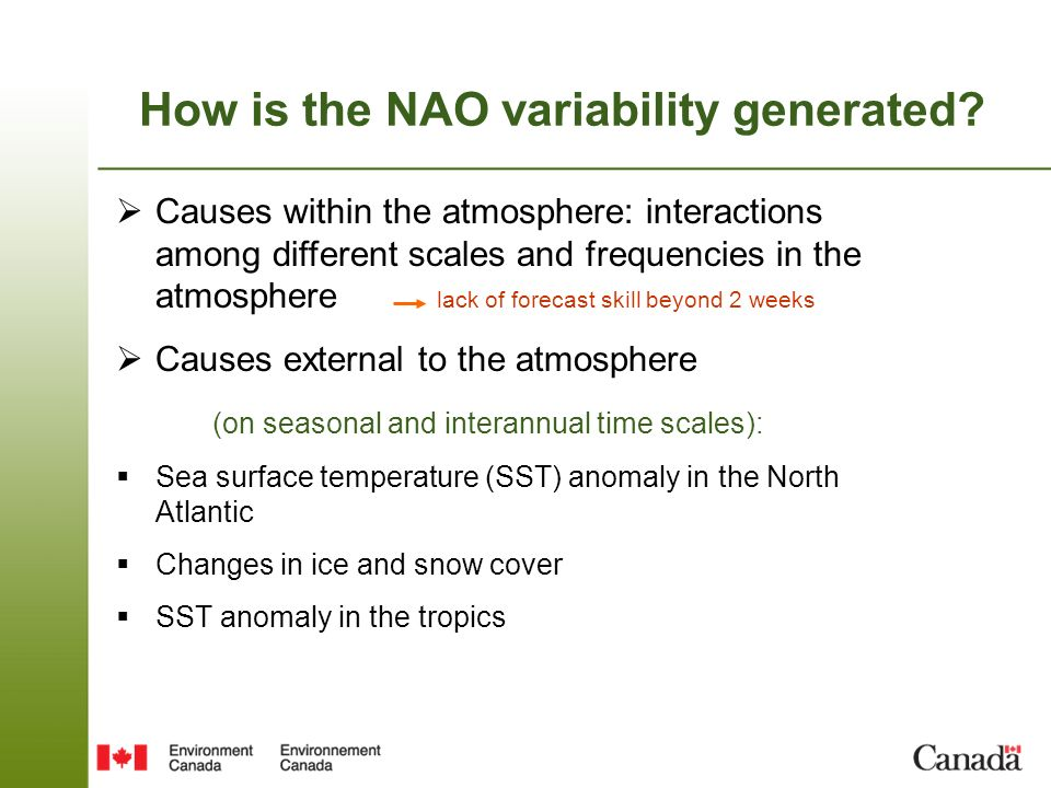 How is the NAO variability generated