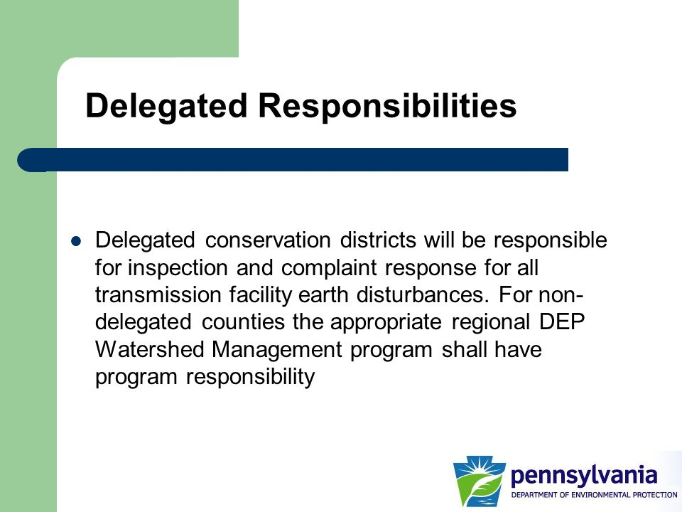 Delegated Responsibilities