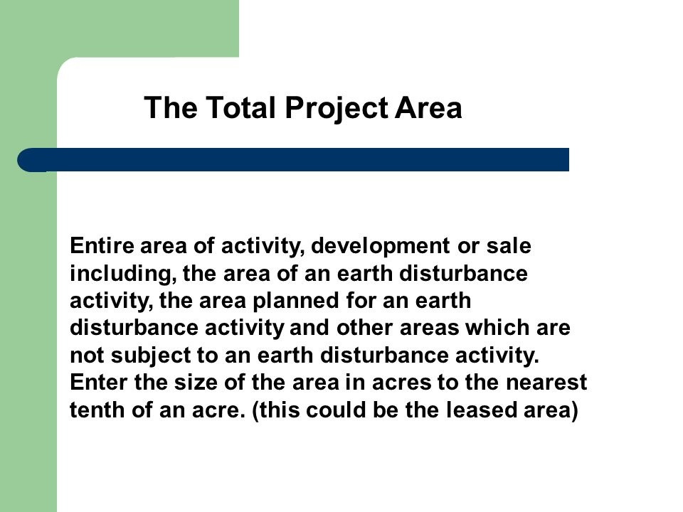 The Total Project Area