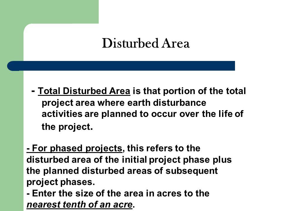 Disturbed Area