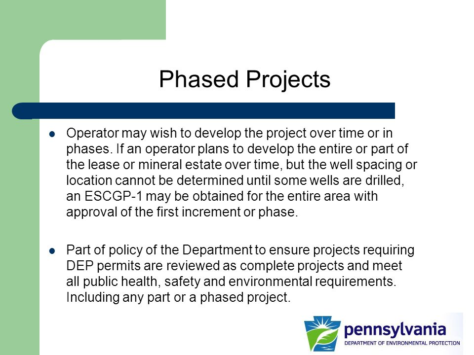 Phased Projects