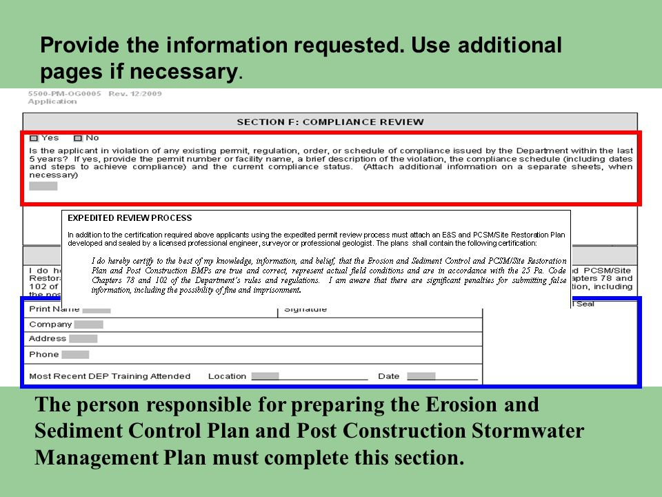Provide the information requested. Use additional pages if necessary.