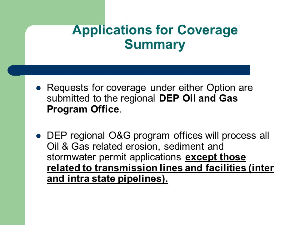 Applications for Coverage Summary