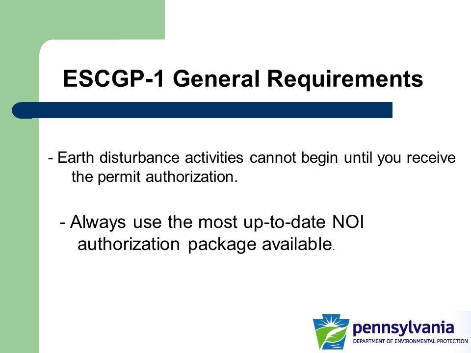 ESCGP-1 General Requirements