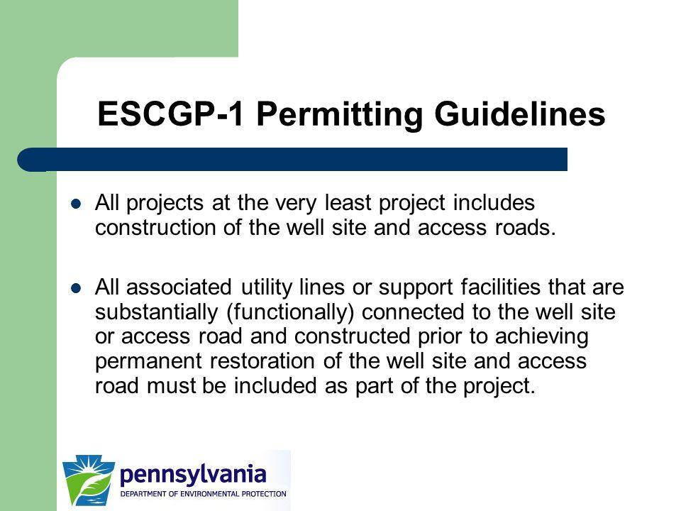 ESCGP-1 Permitting Guidelines