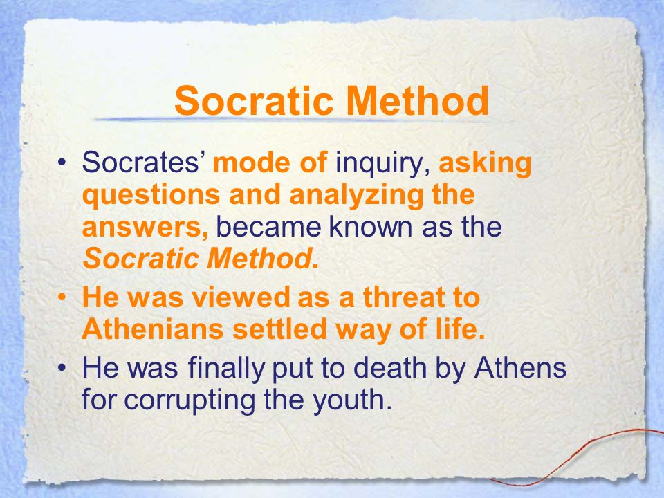 socratic irony is a technique philosophy essay If so, you have witnessed the use of irony, a literary technique used to create  meaning that  the role of irony, paradox, and sarcasm in literary nonfiction such  as speeches and essays  irony (this example contains situational irony) a  disagreement or incongruity  society for the advancement of american  philosophy.