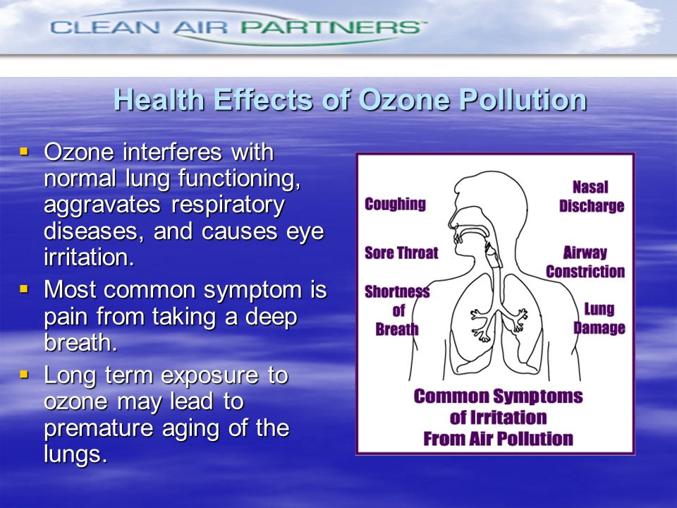 Health Effects of Ozone Pollution
