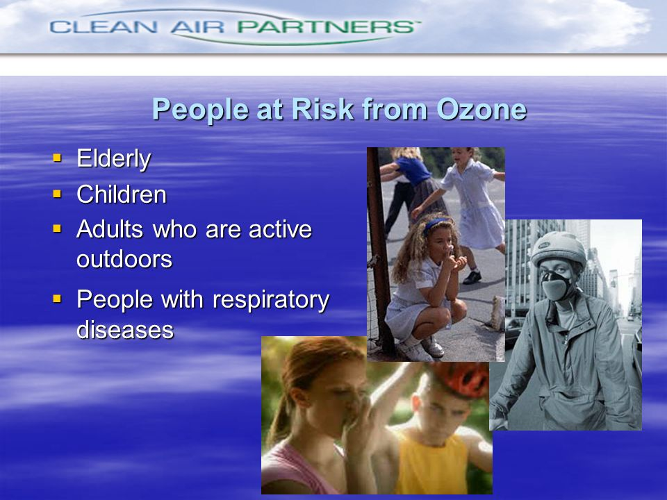 People at Risk from Ozone