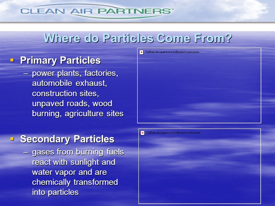 Where do Particles Come From