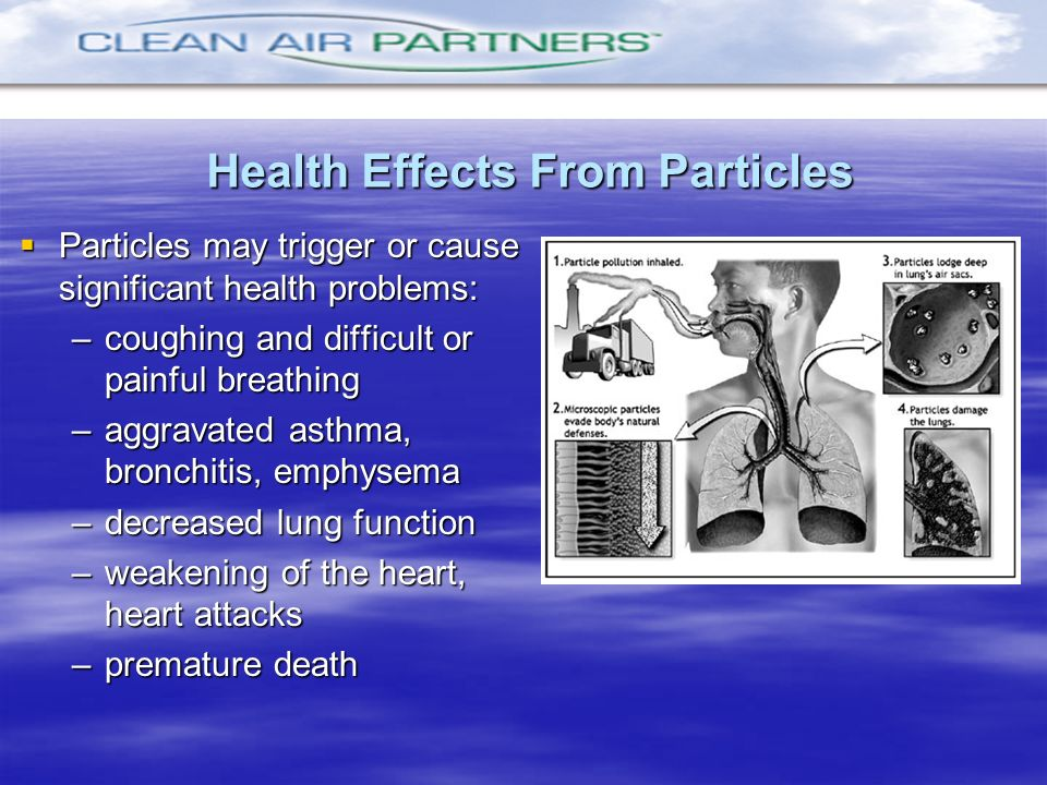 Health Effects From Particles