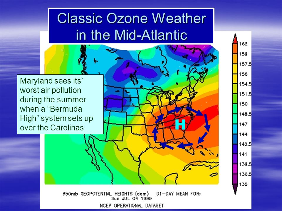 Classic Ozone Weather in the Mid-Atlantic