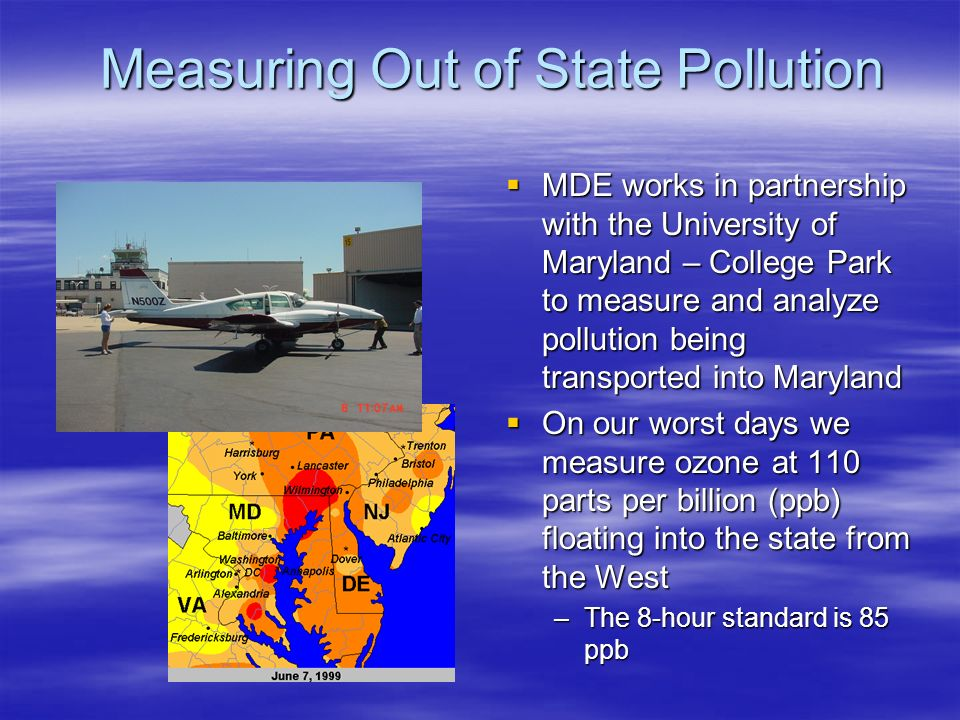 Measuring Out of State Pollution