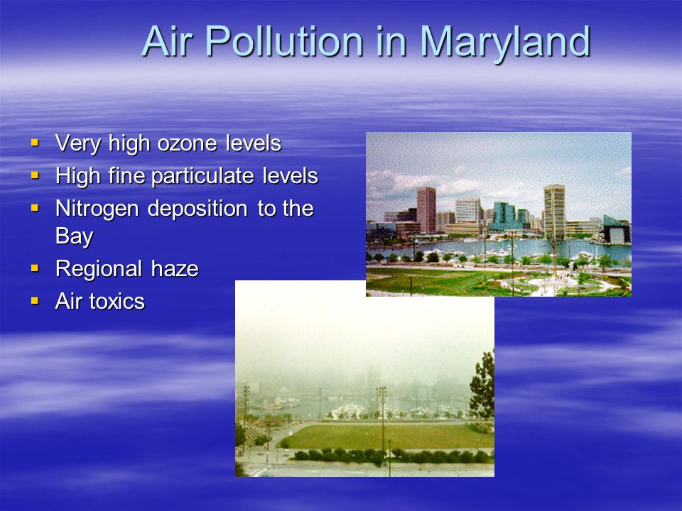 Air Pollution in Maryland