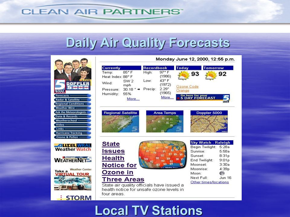 Daily Air Quality Forecasts