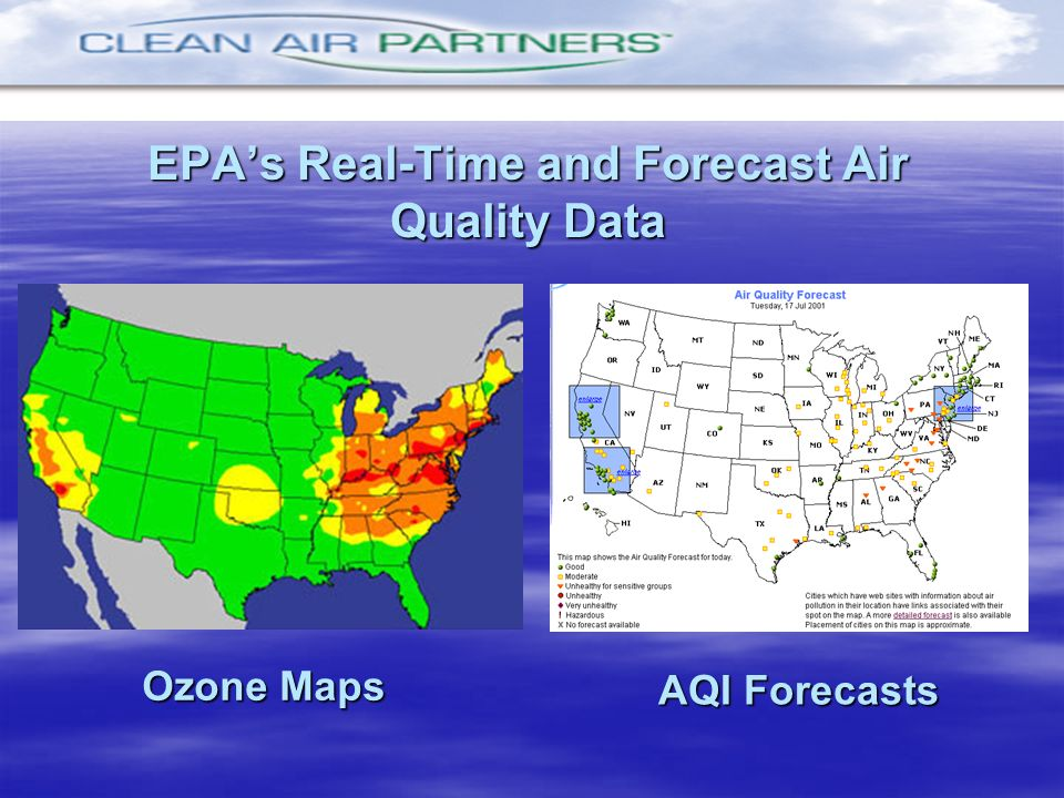 EPA's Real-Time and Forecast Air Quality Data