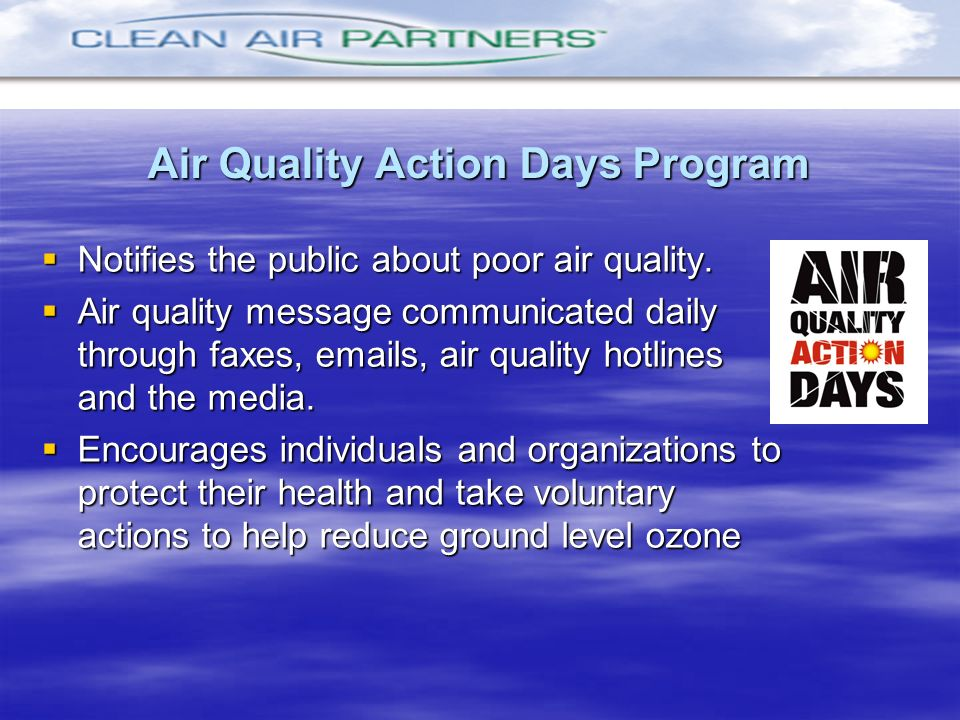 Air Quality Action Days Program