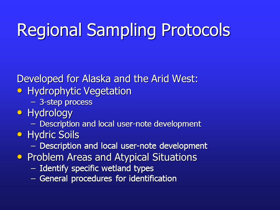 Regional Sampling Protocols