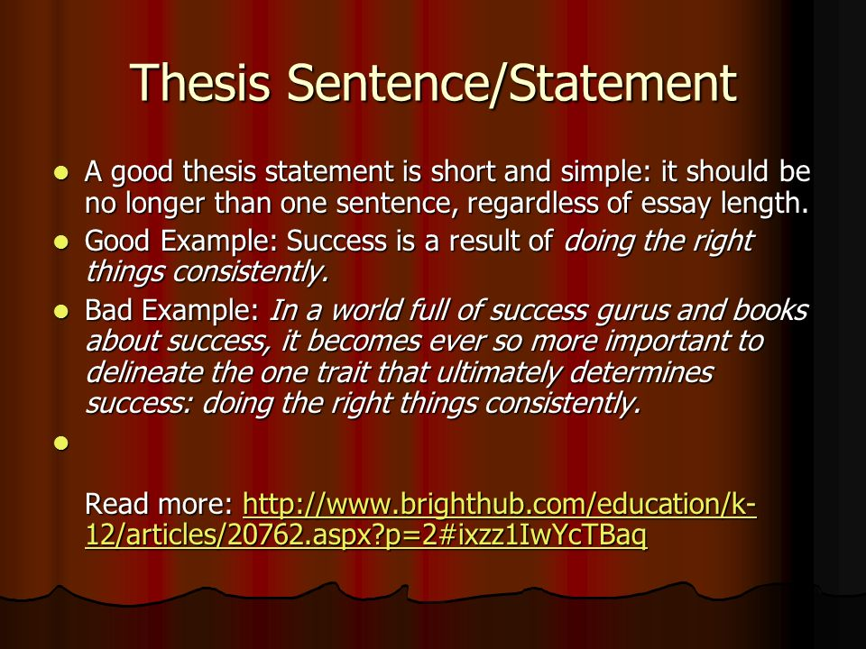 thesis statement simplified Characteristics of a persuasive essay to create a thesis statement this simplified formula offers components for a basic introduction.