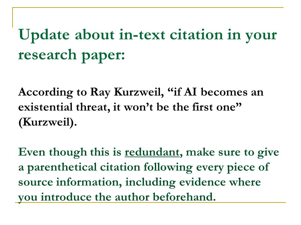 Properly citing sources in a research paper so important