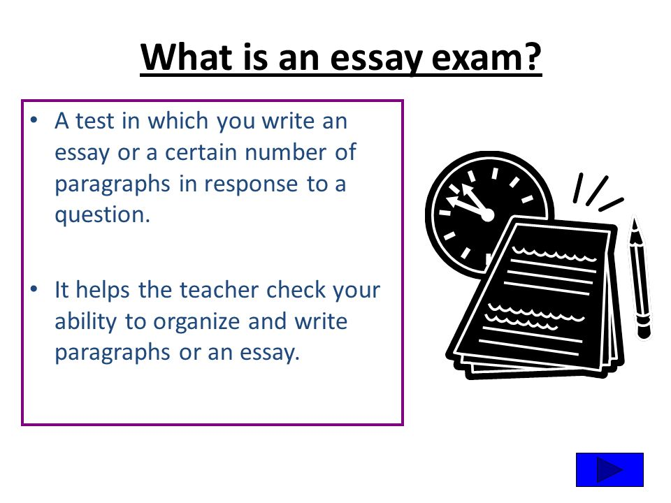 How to write an essay exam question