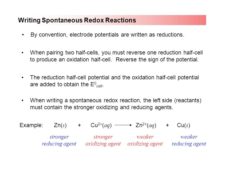 Write a reduction half reaction for copper