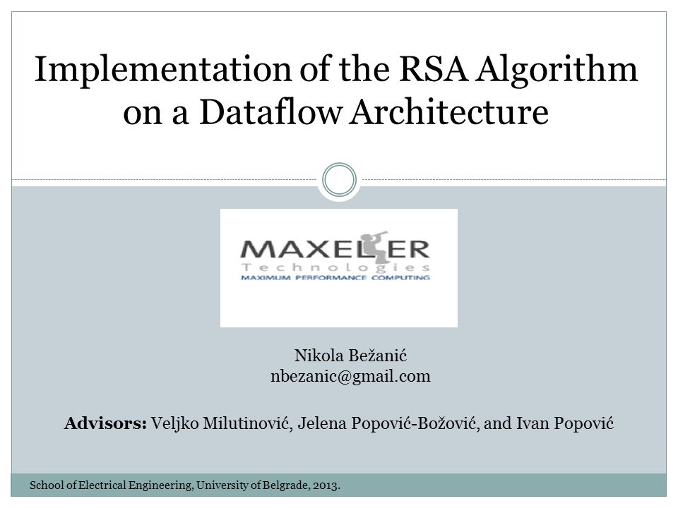 a explication of the rsa algorithm An overall analysis of key generation, message encryption and decryption implementations are in java and algorithm and rsa algorithm have recently gained a lot of attention in industry and academia c comparisons of ecc.