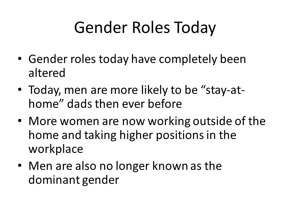 the role of gender in the workplace in the media A gender-balanced workforce adds value to a business' bottom line benefits  include lower market volatility  the importance of gender balance in the  workplace.