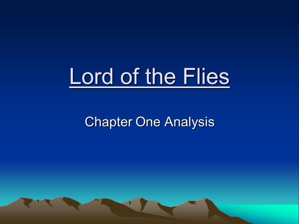 the opening two chapters of the lord of the flies essay