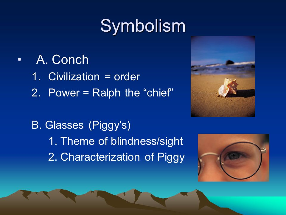 lord of the flies chapter one analysis ppt video online  symbolism a conch civilization order power ralph the chief