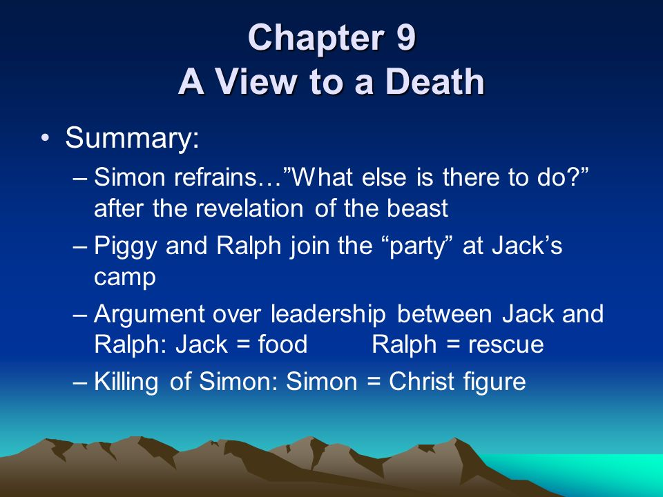 lord of the flies chapters ppt download