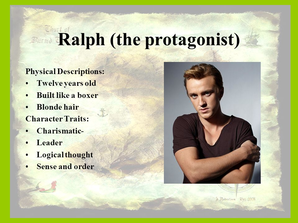 the depiction of ralph as the protagonist in lord of the flies Film adaptations of lord of the flies  makes a strong ralph, displaying both the character's strengths and weaknesses  used and in this graphic depiction.