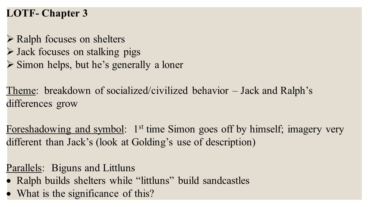 A Literary Analysis Of Symbolism In Lord Of The Flies Coursework