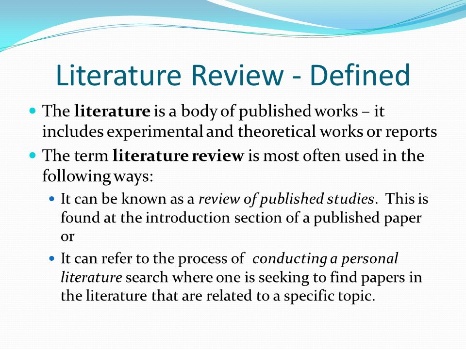 Module 5 Literature Review - Ppt Video Online Download