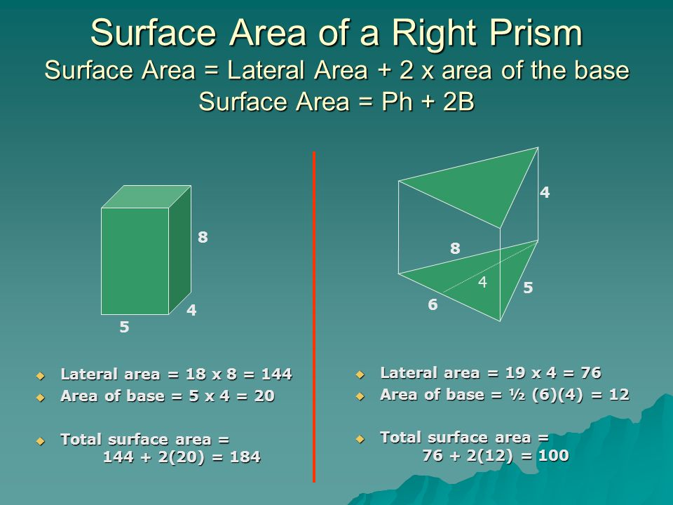 how to find total area of a triangular prism