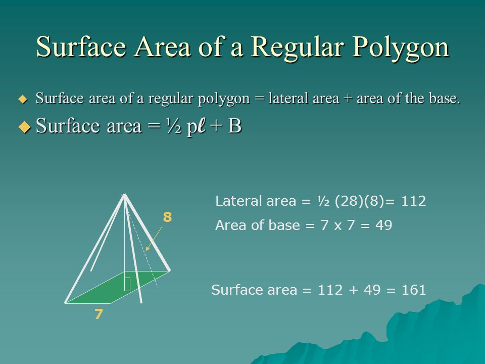 how to find the lateral area of a pyramid