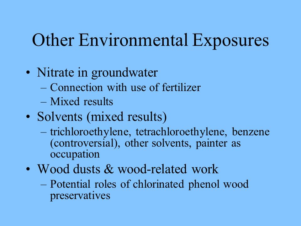 Other Environmental Exposures